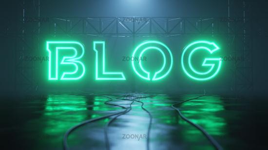 neon light sign blog