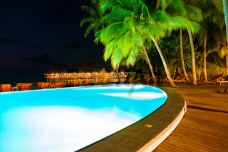 Pool on tropical Maldives island