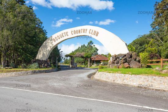 Paama Boquete country club entrance