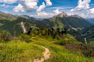 Climbing the Karhorn Via Ferrata near Warth Schrocken in the Lechquellen Mountains