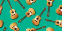 Classical guitar pattern