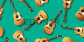 Classical guitar pattern