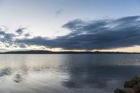 plateau lake landscape in twilight