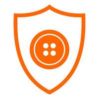 Knopf und Schild - Button and shield
