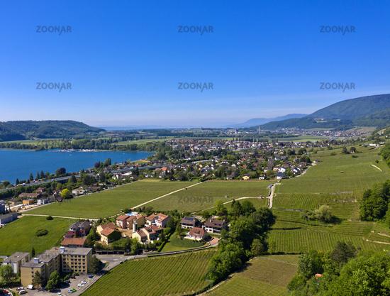 Landschaft am Bielersee