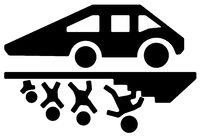Car Above Stencil