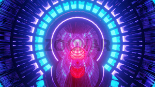 High Definition Cyber Wireframe Portal 4k uhd 3d illustration background