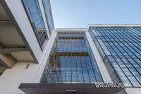 Entrance of the Bauhaus in Dessau