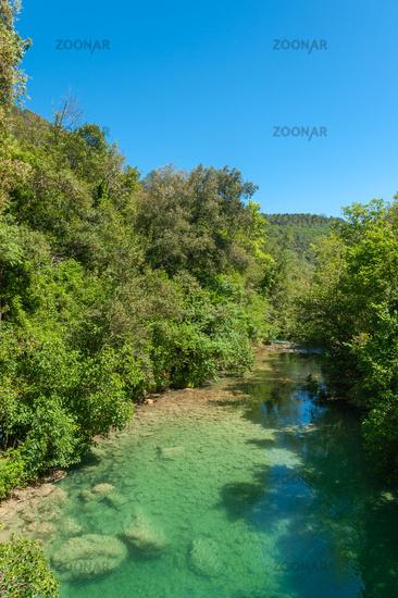 Scenery at the river Siagne close to Saint-Cezaire-sur-Siagne