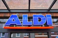 Aldi Nord logo sign of german discount supermarket chain