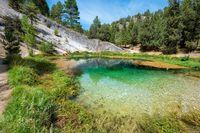 Natural water source of Fuentona of Muriel in soria province, Castilla y Leon, Spain.