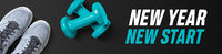 Motivational fitness header - New Year new start
