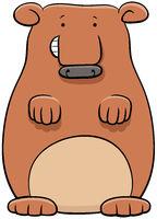 bear animal character cartoon illustration