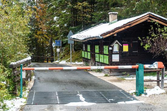 Border crossing between Germany and Austria, Berchtesgarden, Hirschbichl