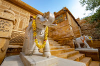 Laxminath temple of Jaisalmer, dedicated to the worship of the gods Lakshmi and Vishnu. Jaisalmer Fort is situated in the city of Jaisalmer, in the Indian state of Rajasthan.