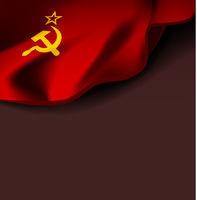 Flag of the USSR. Vector soviet union flag on white