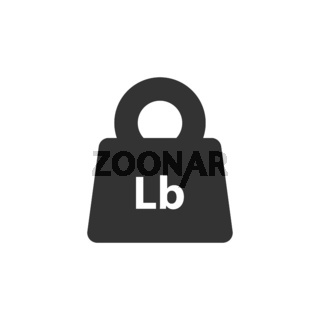 Lb, Lbs weight mass black simple flat icon
