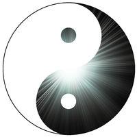 zeichen symbol yin yang sonne licht konzept