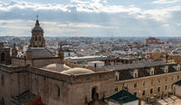 cityscape view from up high of the beautiful city of Seville