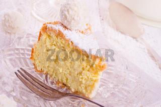 kokos quark cake