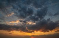 Summer sunset sky panorama background