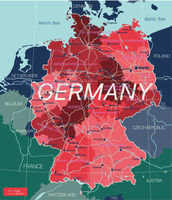 Germany country detailed editable map