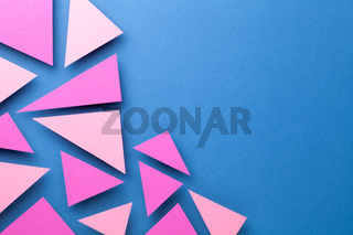 Pink Triangular Shapes In Minimal Creative Style