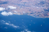 The sky view of Istanbul and Marmara sea. Turkey