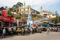 Main Road and Mount Carmel Church in Munnar, India