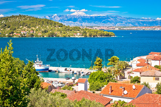 Zadar archipelago. Kali village on Ugljan island seafront view