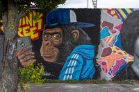 Graffiti ape Mauerpark in Berlin