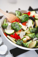 Cooking process of vegetable stew