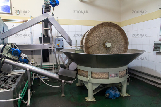 Grinding stone in olive oil factory