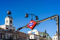 Sol Metro station in Puerta del Sol square in Madrid