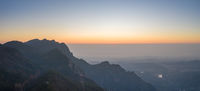 mount lu at sunrise