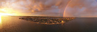 Storm Creates Rainbow Over the Northwest Arctic Borough of Kotzebue Alaska