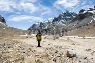 Mountains of Himalayas, young beautiful high mountains of Tibet.