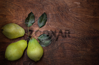 group and three pears