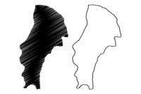 Demerara-Mahaica Region (Administrative Regions of Guyana, Co-operative Republic of Guyana) map vector illustration, scribble sketch Demerara Mahaica map