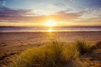 Dunes on ocean coast