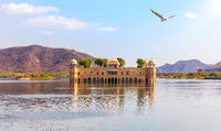 Jal Mahal palace in the Man Sagar Lake, Jaipur, India