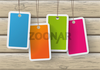 Four Colored Price Sticker Wood PiAd