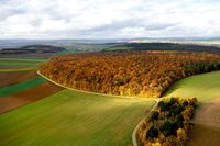 autumnal cultivated landscape