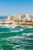 view of Bantry Bay and  apartments in Cape Town South Africa