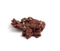 Tasty organic homemade corn flakes cookies with chocolate