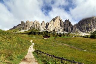 Puez Odle Natural Park. Dolomites. Italy