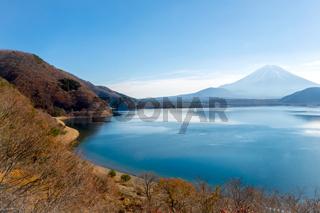 fujisan with Motosu lake