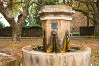 Casinca village water fountain