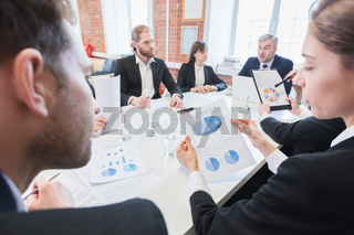 Business team with charts