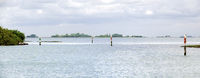 lagoon of Grado with stakes marking  the shipping route